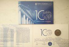 Estonia 2 euro coin card2019 centenary of the first Estonian-language university