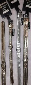 Pets at home gold silver metallic DIAMANTE Dog Collar xxs  xs SMALL faux leather