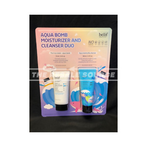 BELIF AQUA BOMB TRUE CREAM AND JELLY CLEANSER SET, MOISTURIZER AND CLEANSER DUO