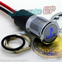 SPIA LED 14mm CON SIMBOLO ACQUA ALTA TEMPERATURA metallo lampada 12V indicator
