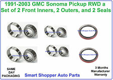 1991 1992 1993 1994 1995 - 2003 GMC Pickup Sonoma Front Wheel Bearing & Seal RWD