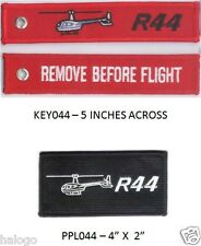 ROBINSON R44 HELICOPTER PATCH & KEYCHAIN SET -PPL044/KEY044