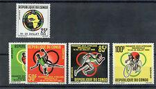 CONGO(BRAZZAVILLE) Sc   130-3,133a(MI 76-80,BL 3)**VF NH+S/S AFRICA GAMES $ 24