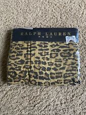 Ralph Lauren Aragon Leopard Neutral Twin Flat Sheet 🐯 NEW PACKAGING Torn
