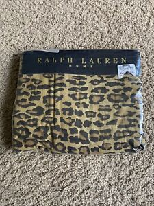 Ralph Lauren Aragon Leopard Neutral Twin Flat Sheet 🐯 NEW PACKAGING Torn