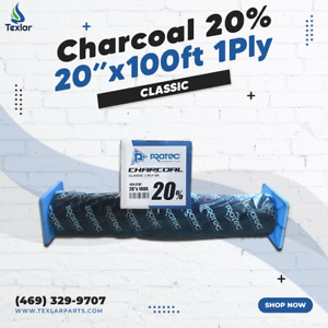 "Window Tint Charcoal 20% Protec 20""x100ft Classic 1Ply"