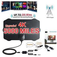 Digital TV Antenna 5000Mile Range Signal Booster Amplifier HDTV Indoor 4K