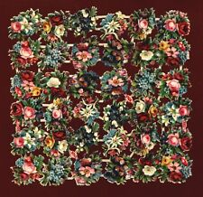 uralter wunderschöner Oblaten Bogen kleine Blumen - DIE CUT SCRAPS