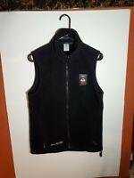 Columbia Women's NBC Olympics Fleece Full Zip Vest Jacket Small Black Pockets