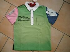 (58) RARE-The Kid Boys Shirt Polohemd + Tasche Druck Totenkopf & Aufnäher gr.104