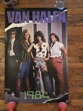 "Rare Vintage Van Halen 1984 Promo Poster 36""x 24"" Eddie Van Halen David Lee Roth"