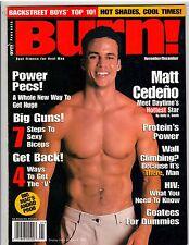 BURN! bodybuilding muscle fitness Gym magazine Matt Cedeno/Gay Int 12-99