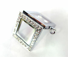 10pcs lot Square Crystal Floating Charms Glass Lockets Free Shipping
