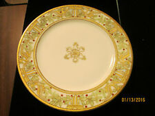 """ANTIQUE? HAND PAINTED ~ ROYAL CROCKERY~ NIPPON 7.5"""" GOLD MORIAGE BEADED PLATE"""