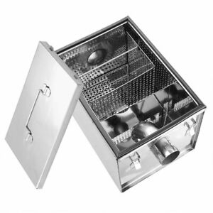 Commercial Grease Trap Waste Fat Filter 4Kg Stainless Steel Restaurant Takeaway