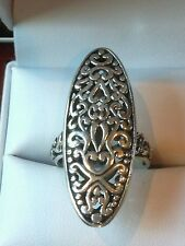 STUNNING STERLING SILVER FILIGREE RING, SIZE 7