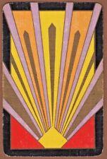 Playing Cards 1 Swap Card Old Vintage Art Deco Colour SUNBURST RAYS Geometric 2