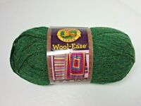 New WOOL EASE Forest Green Heather Lion Brand Acrylic Wool Blend 3 oz Skein Med