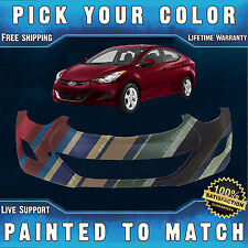 NEW Painted To Match Front Bumper Cover for 2011 2012 2013 Hyundai Elantra Sedan