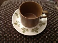 Vintage Retro Cup & Saucer 1970s J&G Meakin Maidstone Tulip Time