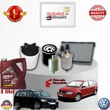 Filtres Kit D'Entretien + Huile VW Touran 1.6 Bicarburation 75KW 102CV à partir