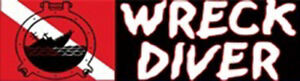 "Scuba Diving Bumper Sticker ""Wreck Diver"" + Logo DS24"