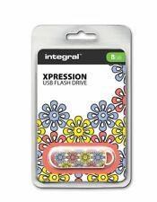 Integral USB 2.0 Expression Flash Drive - 8GB Petal . INFD8GBXPRPETAL