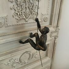 Bronze Style Climbing Man Wall Art Decoration Climber Gift Vintage Retro Rope