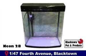 28L Glass Fish Tank Aquarium NEON 28 Litre w/ Light, Filter, Pump, Air Intake