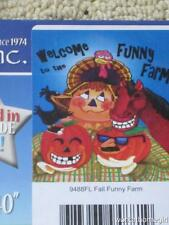 Nwt/Autumn Welcome To Funny Farm Large House Flag/Animals/Brand New/28 x 40/Cute
