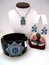 "Brighton ""NEPAL"" Necklace-Earring-Bracelet Set (MSR$218) NWT/Pouch"