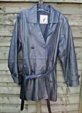 Ladies vintage CAMANCH LEATHERS black leather jacket size XL