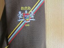 Initials BMB 1981 Possibly CRICKET Interest Tie by Olympic Ties