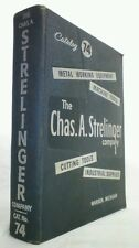 Vintage 1958 Chas. A. STRELINGER Ind. Supply Catalog 74~Asbestos, White Lead~HC