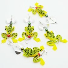 5pcs Lot Rotate Sequin Frog Lures Soft Fishing Lure Bait Topwater Tackle 8g/9cm
