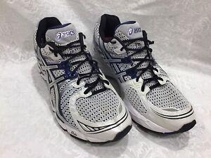 Asics Gel Kayano  17 US11  White / Blue Men's Athletic Running Shoes T100N