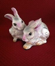 Vintage Porcelain Rabbits figurine ~ unmarked ~ Very Sweet!