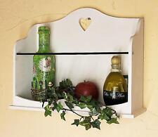 Estante de pared con el corazón 12027 Estantería 42 cm Vintage Shabby Casa Rural