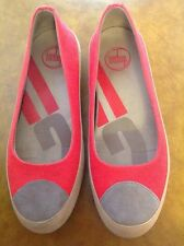FitFlop Due Canvas Ballet Flats Hibiscus Sz 37 US 7 Worn Once!