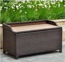 Barcelona aluminum storage trunk bench - chocolate - includes shipping