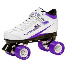 Roller Derby Viper M4 Womens Speed Quad Skate Size 8 White/Purple/Black NEW