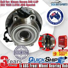 1 FRONT WHEEL BEARING HUB FOR NISSAN NAVARA 4WD D22 D40 ABS YD25 VQ40 SPANISH