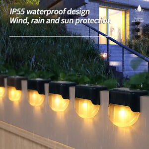 Outdoor Solar LED Deck Lights Path Garden Patio Pathway Stairs Step Fence Lamp