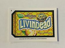 2020 Wacky Packages All New Weekly Series June - Livin'Dead (#2) Coupon Back