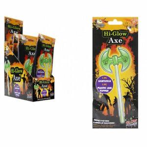 Glow Axe Assorted - Halloween Glow In The Dark Sticks Fancy Dress Costume Bright