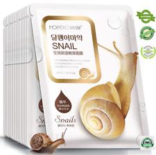 Rorec 1pcs Snail Essence Facial Mask Skin Care,Whitening Hydrating Moisturizing,