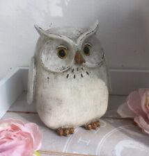 A Sweet Wood Effect Rustic Shabby Chic Resin Owl Ornament Shelf Sitter Figurine