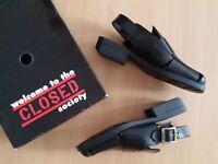 Designer Damen Schuhe Sandalen CLOSED Gr 38 schwarz Leder neuwertig