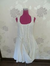 Stunning All Saints Aemilla Dress Chalk White Size 14 Excellent Condition