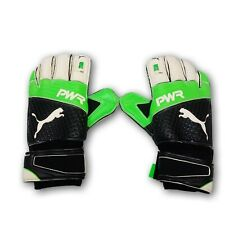 Puma Neon Green/Black Goalie Gloves Size 8 New With Tags